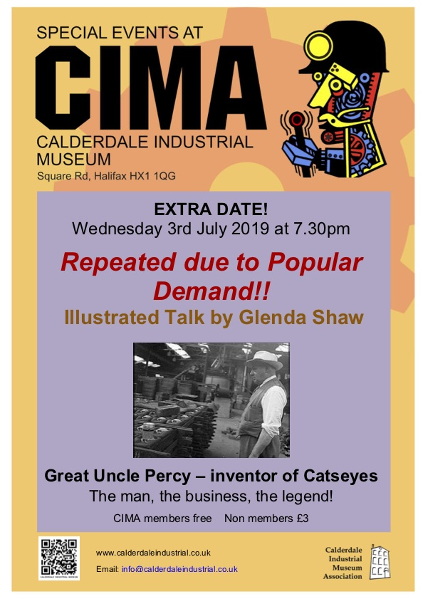 By Popular Demand Another Free Talk At >> Percy Shaw Repeated By Popular Demand Calderdale Industrial Museum